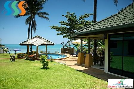 Beachfront Four Bedroom Pool Villa on the North Coast of Samui