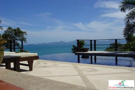 Elegant Thai Holiday Villa with Three Bedrooms, Private Pool and Sea Views in Bang Po, Samui