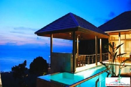 Contemporary European Style Four Bedroom Seaview Villa with Private Pool in Samui