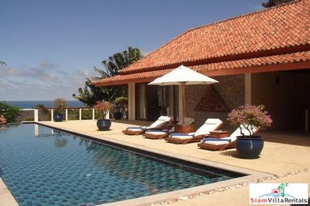 Spacious Thai Style Four Bedroom Pool Villa with Sea Views in Kata