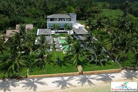 Ultra Modern Beachfront Pool Villa Available with Three or Five Bedrooms in Taling Ngam, Samui