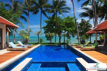 Beachfront Thai Style Pool Villa Available with Three or Five Bedrooms in Lipa Noi, Samui