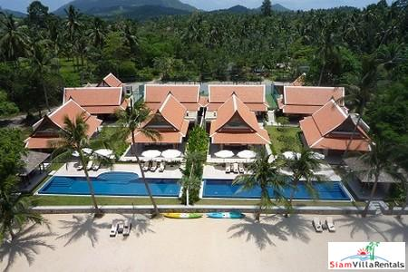 Beachfront Pool Villas Available with Three, Five or Ten Bedrooms and Tennis Court in Lipa Noi, Samui