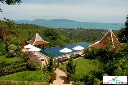 Luxury Seaview Pool Villa Available with Three or Five Bedrooms in Bophut, Samui