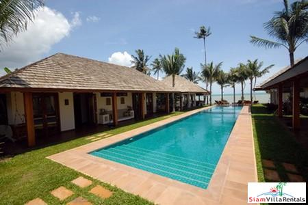 Relaxed Beachfront Pool Villa Available with Three or Six Bedrooms in Plai Laem, Samui