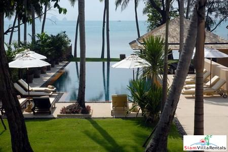 Modern Beachfront Pool Villa Available with Three or Four Bedrooms in Lipa Noi, Samui