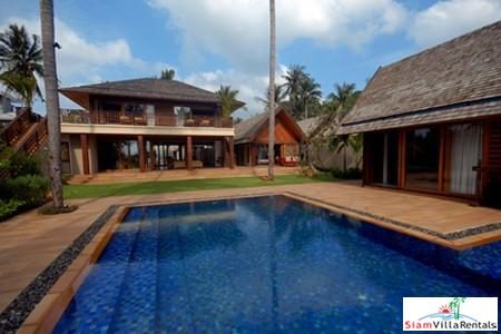 Luxury Beachfront Pool Villa Available with Four or Six Bedrooms in Lipa Noi, Samui