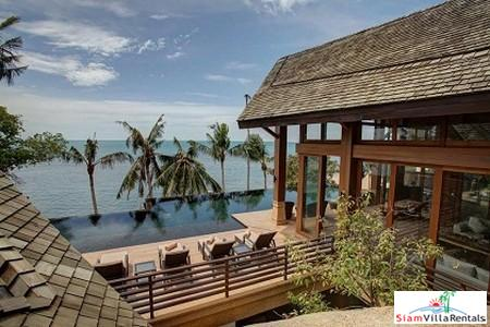 Stunning Beachfront Pool Villa Available with Three, Four or Five Bedrooms in Lamai, Samui