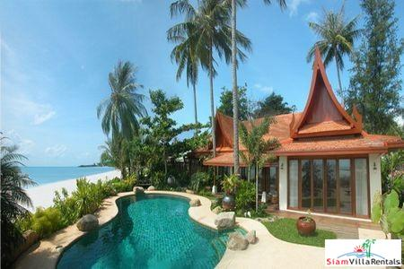 Tropical Thai Beachfront Villa with Four Bedrooms and Private Pool at Natien Beach, Samui