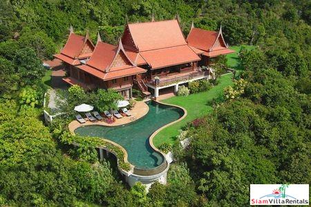 Thai Style Sea View Pool Villa with 1-4 Bedrooms in Plai Laem, Samui