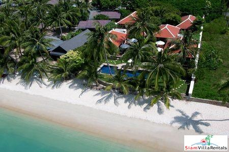 Thai Style Beachfront Pool Villa with Five Bedrooms on Laem Set Beach, Samui