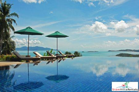 Picturesque Hillside Seaview Pool Villa with Three Bedrooms in Bophut, Samui