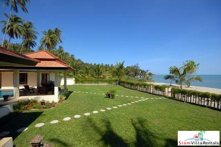 Charming Beachfront Pool Villa with Three or Four Bedrooms on Laem Set Beach, Samui