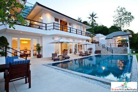 Stylish Hillside Pool Villa with Three or Four Bedrooms in Bophut, Samui