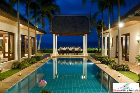 Tropical Three or Five Bedroom Pool Villa Directly on the Beach at Maenam, Samui