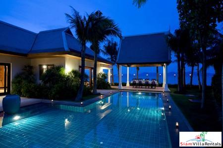 Contemporary Thai Two or Four Bedroom Pool Villa on the Beach at Maenam, Samui