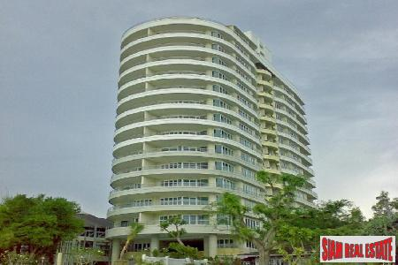 An absolute beachfront condominium with nice sea view for sale