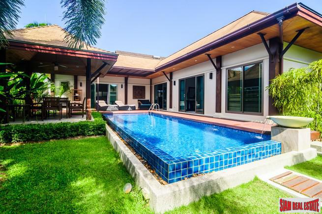 Airy, Modern Three Bedroom Pool Villa on Corner Plot in Rawai