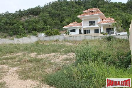 Land with mountain and sea views for sale only 2.5 KM to Hua Hin town center.