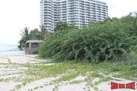 An absolute beachfront land for sale.