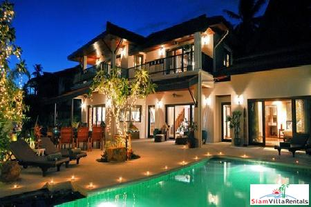 Spacious, Luxury Four-Bedroom Pool Villa on Samui's Southeastern Coast