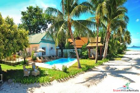Beachfront Two Bedroom Pool Villa on Samui's Southeastern Coast
