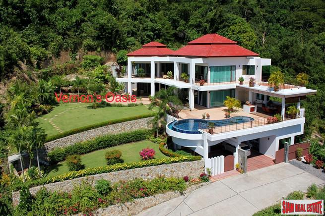 Idyllic Three Bedroom Luxury Sea View Home in Chalong