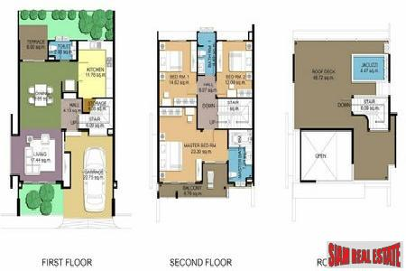 New Three-Bedroom Townhomes with Jacuzzi 17