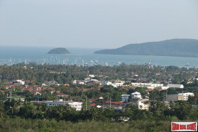 Large Sea View Plot (1.8 Rai) in Hills above Chalong