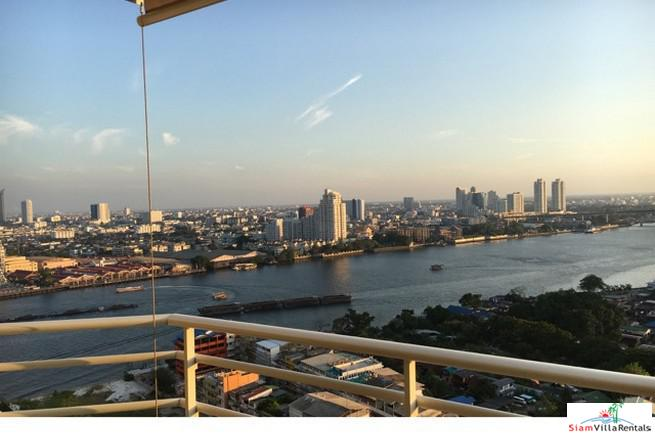 Watermark Chaophraya | Absolute River Front, Stunning Views from this Two Bedroom Condo for Rent in Sathorn