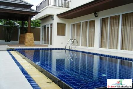 Modern 2-Storey House with 3 Bedrooms and a Swimming Pool For Long Term Rent at Chalong, Phuket
