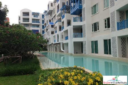 Two bedrooms condominium on the beach for rent close to town.