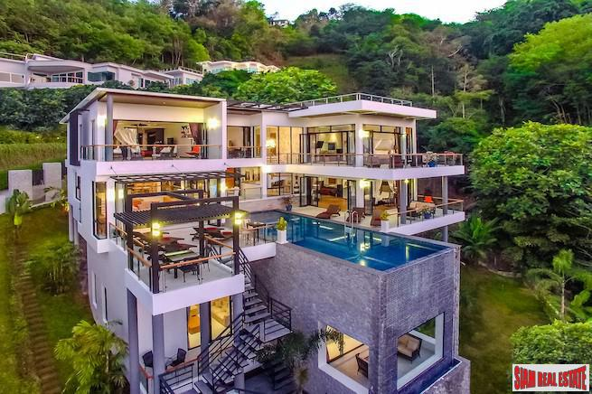 Exclusive, Modern Six-Bedroom Sea View Villa in Surin