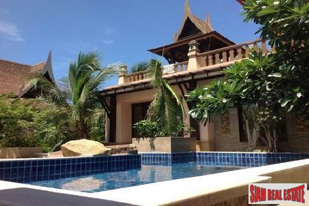 Elegant, Three-Bedroom Thai-Style Pool Villa in Bophut
