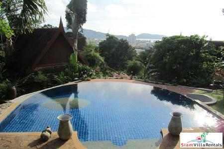Mountainside Three-Bedroom Garden Villa with Pool above Patong