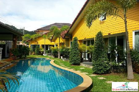 Secure one-bedroom villa in Rawai with swimming pool and off-street parking